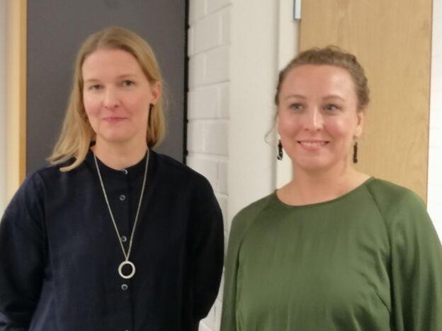 Katri Jaalamaa vasemmalla vieressään Anni Alatalo